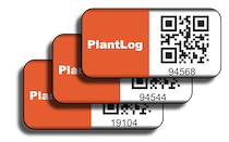 PlantLog anodized barcode